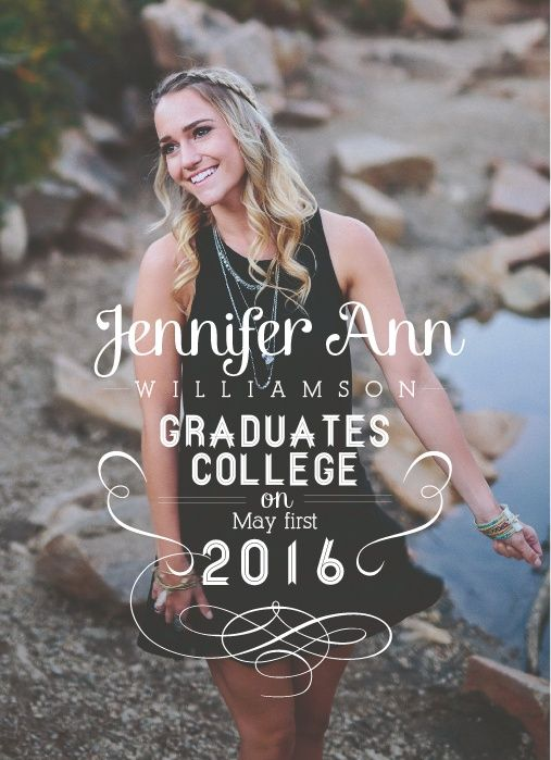 It may seem like it takes forever to graduate so when you do you should let everyone know of your big accomplishment. The Finally Graduation Announcement can help you do that. The Forever design is a portrait styled card with your photo as its background and your graduation text overlaid over the top of it. Choose from over 150 different font styles to make it fit your style perfectly.