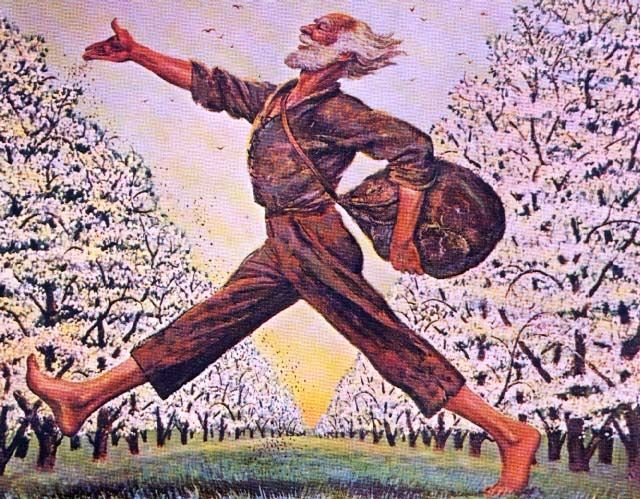 Happy Birthday to Johnny Appleseed! He was born Sept 26, 1783, and traveled across the American frontier planting apple trees! #apples #happybirthday