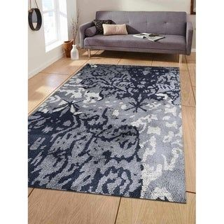 Modern Abstract Hand Made Silk Carpet Indian Oriental Area Rug | Overstock.com Shopping – The Best Deals on Area Rugs