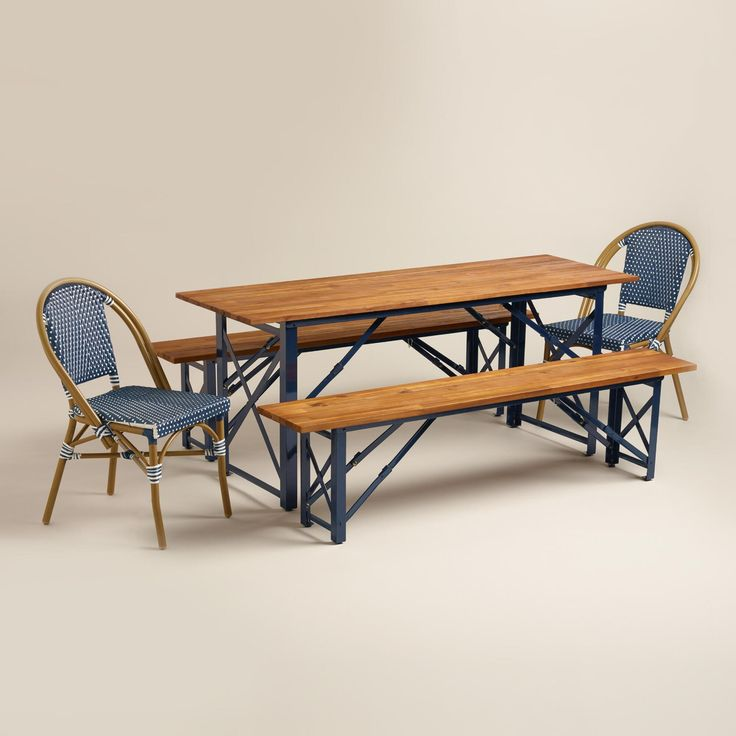 Peacoat Beer Garden Outdoor Dining Collection From World Market