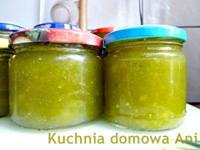 Kuchnia domowa Ani: Zielony dżem z cukinii