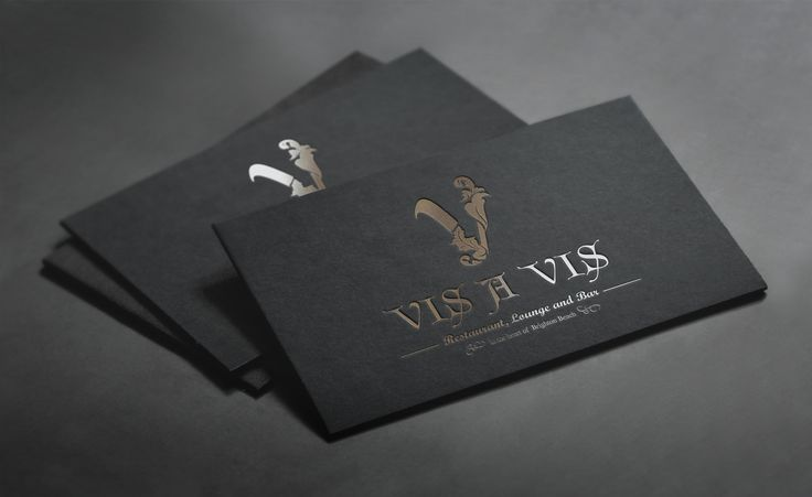 New Business Card design   Vis 'A Vis