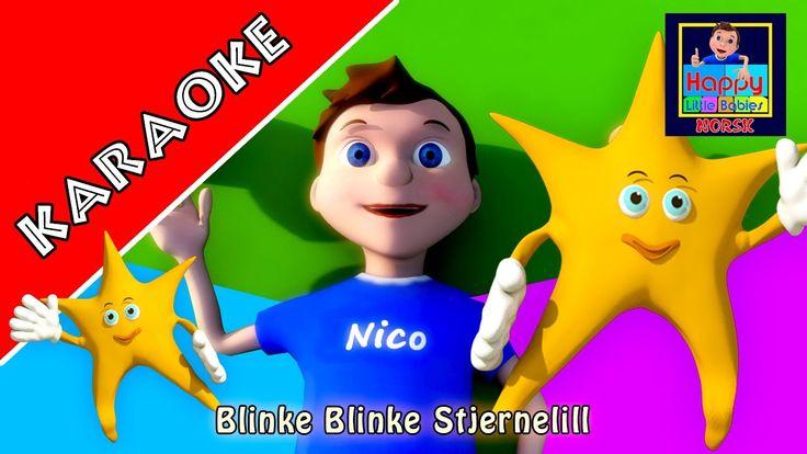 KARAOKE: Blinke Blinke Stjernelill  - Instrumental versjon med tekster f...