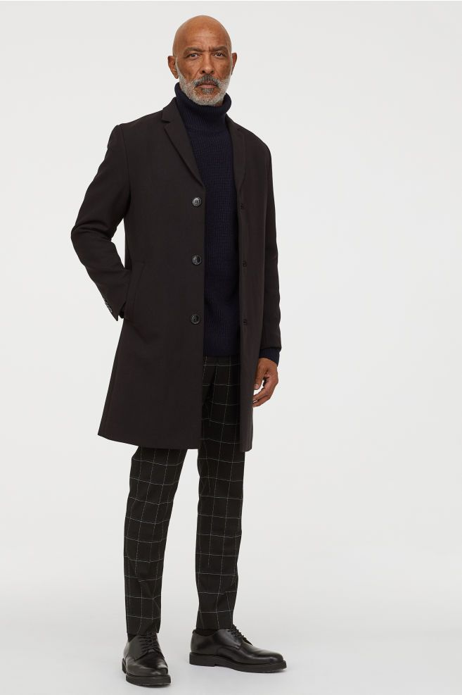 Viscose Blend Coat Stylish Mens Outfits Modern Men Street Style