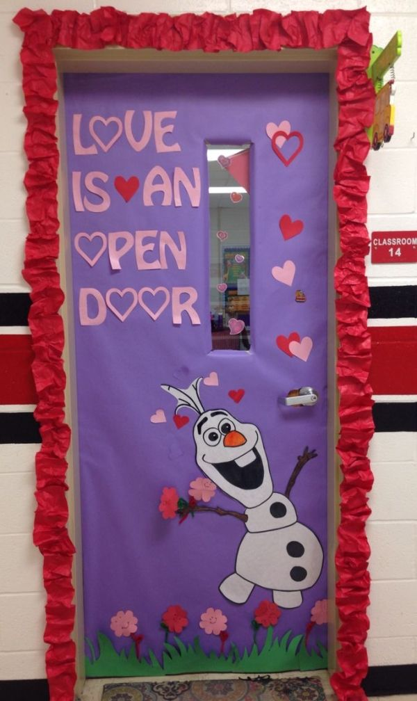 Olaf Valentine's door! by emily