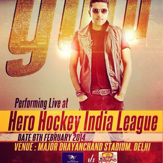 @guruofficial #Performance at: #HIL 2014 - Feb.6th. #Delhi #India #Share RT Will be live on Star Sports, 6th feb 2014 in Hockey India League during DELHI WAVERIDERS vs Mumbai Magicians match. #GURU #Update #Performance: 2 shows on 6th...Afternoon  #HINDUCOLLEGE, #NewDelhi and Then evening #HHL Hero Hockey League....With live band.  See you all there.  #pageone #Updating this month Tour soon.. Contact +91 8375 010203 https://www.facebook.com/OfficialGuru