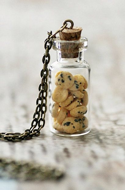 Cookie Jar Necklace. Miniature Food Jewellery: