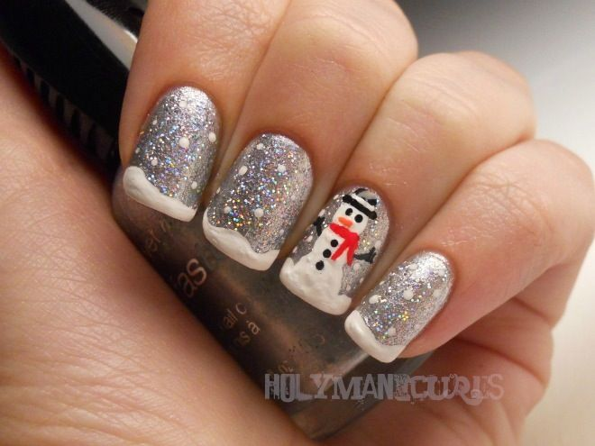 Holy Manicures: Snowman Nails.