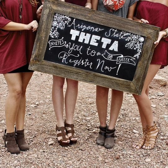 Could definitely make this just Panhellenic--too cute!