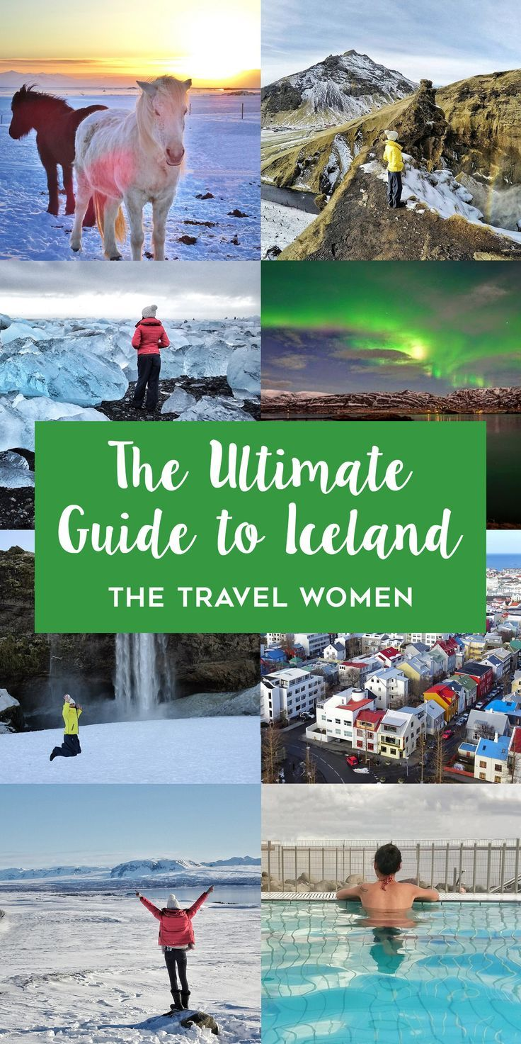 The Ultimate Guide to Iceland. The dramatic landscape and varied alien terrains of Iceland has to be witnessed at least once in a lifetime. The rightly named land of ice and fire has some stunning glaciers, waterfalls, volcanos and hot springs. And no matter what time of the year it is, be ready to experience gushing wind, rain and sunshine all in a day. Click through to read The Travel Women Ultimate Guide to Iceland. | The Travel Women #iceland #travelguide