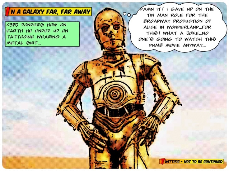 What the actor inside C3PO's suit was thinking