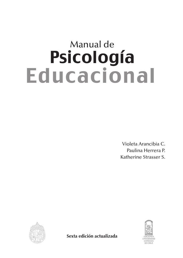 Manual de psicologia educacional