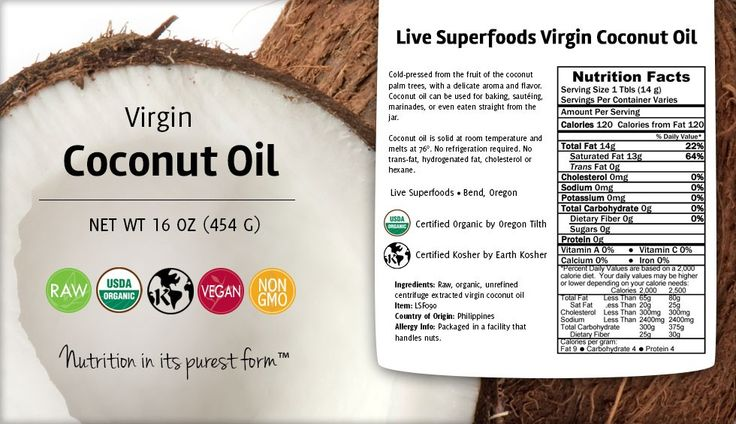 Live Superfoods Raw Virgin Coconut Oil, Organic - Live Superfoods
