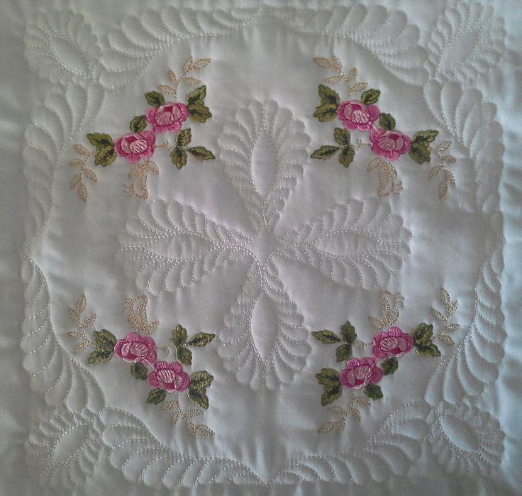"EW017–Royal English Roses 2 Large Quilt Blocks 5""x5"""