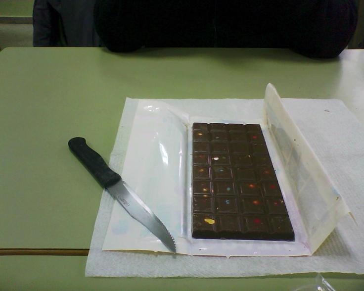 Aprendiendo fracciones con una tableta de chocolate