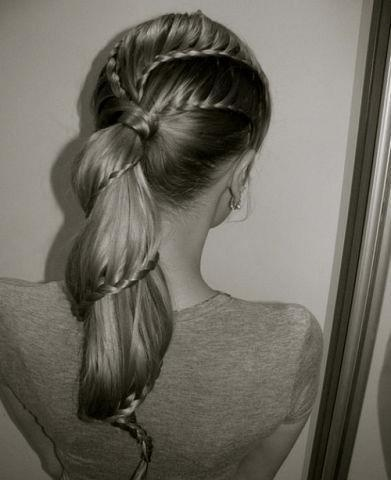 cascading braids: Hair Ideas, French Braids, Braids Hairstyles, Spirals, Makeup, Long Hair, Beautiful, Hair Style, Ponies Tail