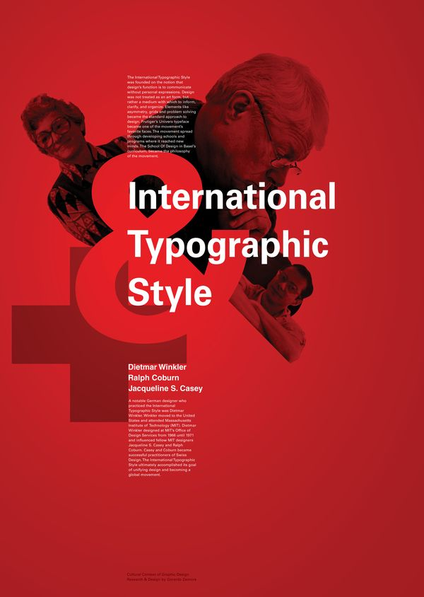 International Typographic Style by Gerardo Zamora-Diaz, via Behance