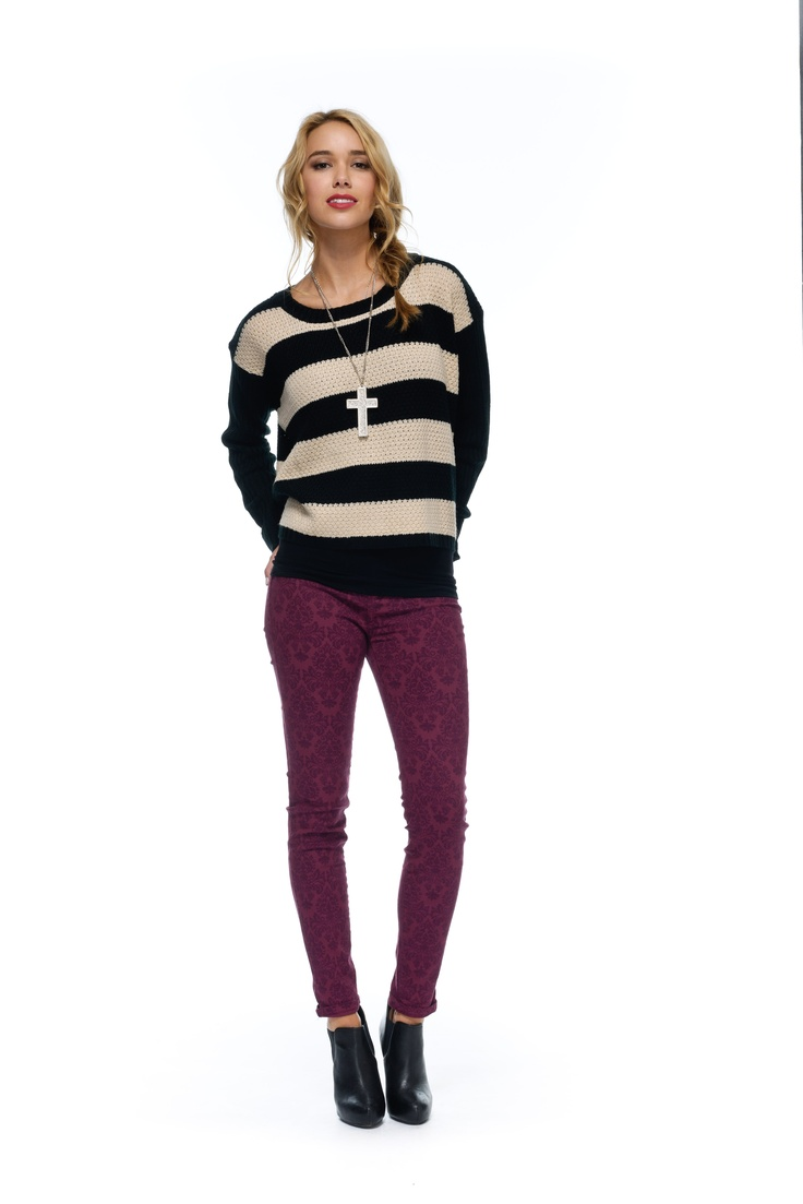 Hannah Stripe Knit  High Winter 2013  Shop Online @ http://shop.finesseboutique.co.nz/page/welcome