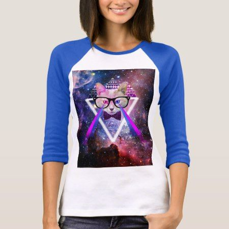 Hipster galaxy cat T-Shirt - click to get yours right now!