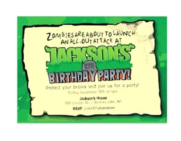 Zombie Party Invitation Template Invitations Free Hand