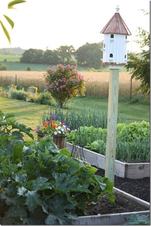 StoneGable garden view...great example of a beautiful kitchen garden.