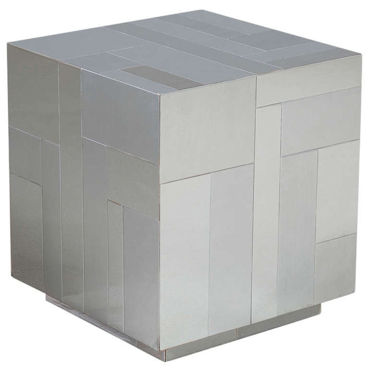 A Paul Evans designed Chrome Cube/End Table 1975 | From a unique collection of antique and modern side tables at http://www.1stdibs.com/furniture/tables/side-tables/