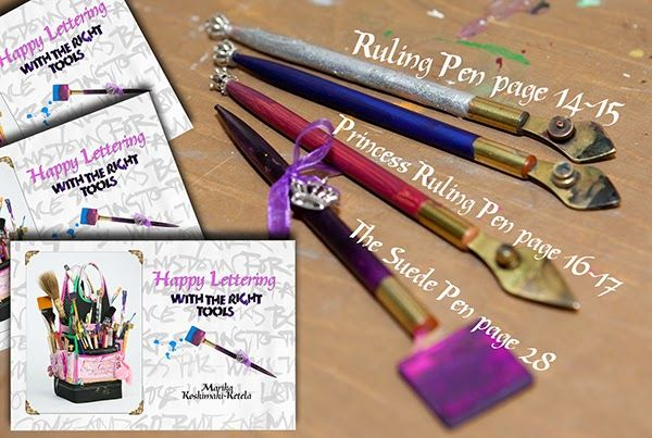 Info about Ruling Pens, Princess Ruling Pens, Suede Pens..... #happylettering