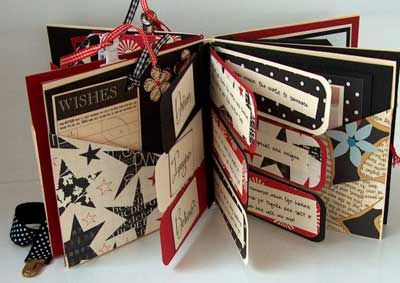 mini album gift flags with special messages made from envelopes masculine album mini. Black Bedroom Furniture Sets. Home Design Ideas