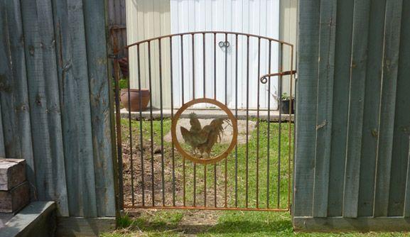 The rustic chook gate
