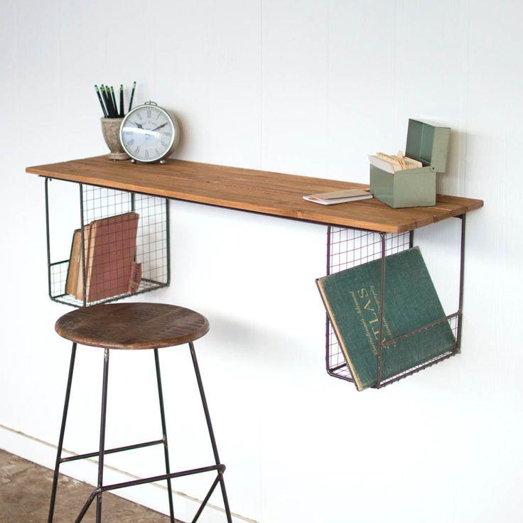 25 best floating desk ideas on pinterest industrial kids nightstands boys desk and rustic desk. Black Bedroom Furniture Sets. Home Design Ideas