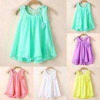 Wish   Toddler Baby Summer Party Sundress Kids Girls Chiffon Vest Tutu Dress Tops