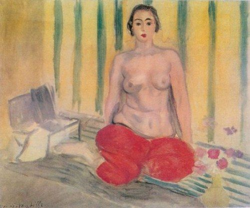 I Fauves: Henri Matisse, Odalisca con Pantaloni Rossi ( 1922), Parigi, Museo Nazionale d'arte Moderna.