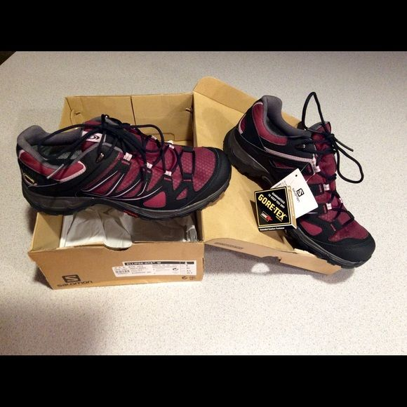 d112c53524 Salomon Ellipse GTX W Hiking shoes women Bordeaux/black/crocus ...