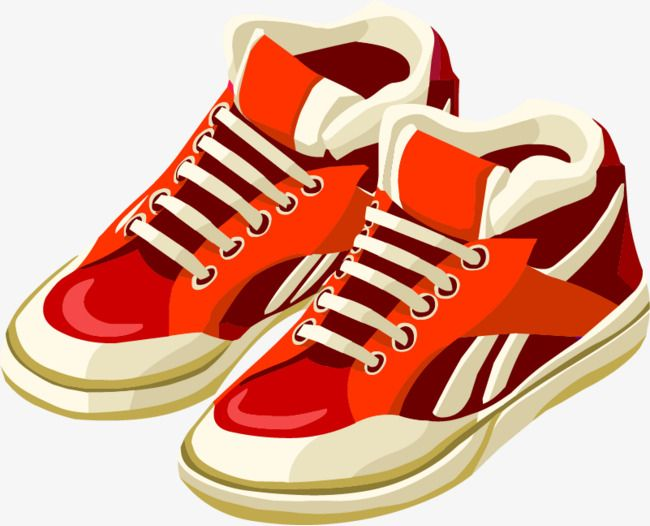 Vector Sneakers Png And Vector Cartoon Shoes Sneakers Red Shoes
