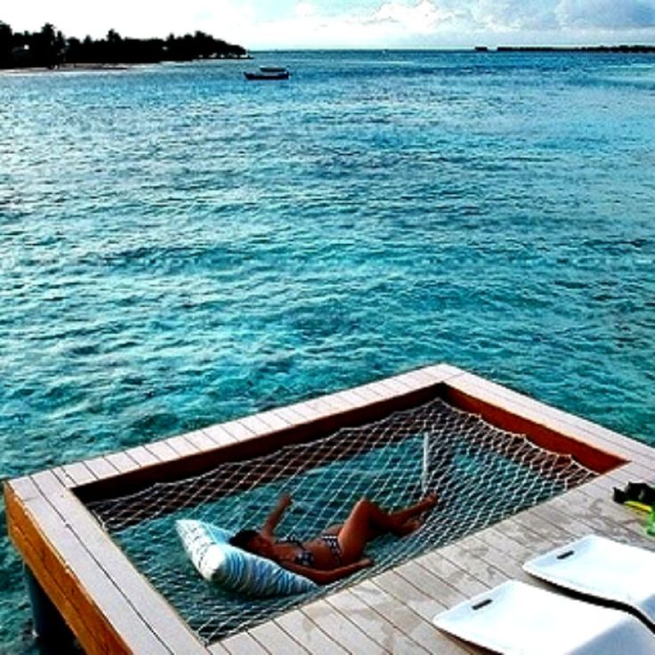 How About a Hammock Net Over Your Own Calm Stretch of Ocean