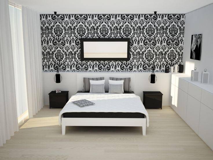 Przepiękna i stylowa sypialnia by pomyslnawnetrze.com
