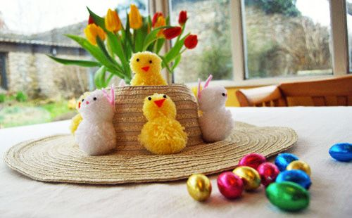 We love this very simple and traditional Easter bonnet