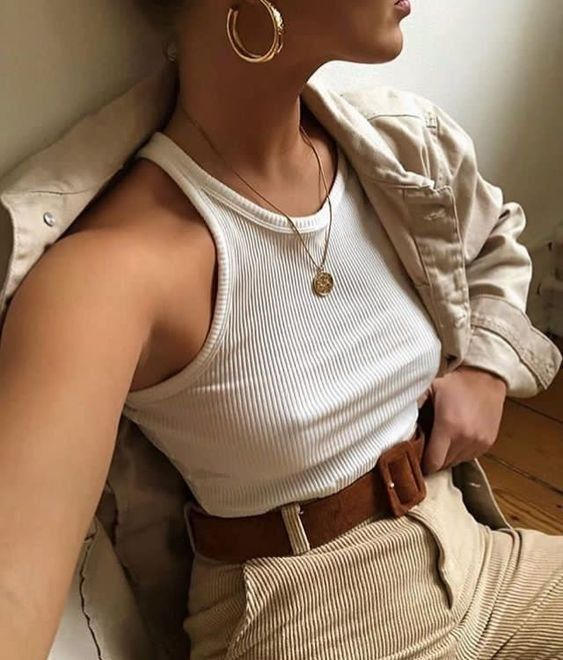 Spring outfit Corduroy outfit Corduroy | Beige…