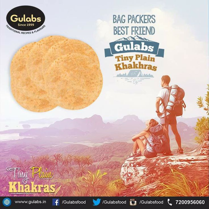 Bag Packers dream come true! #TinyPlainKhakhras #gulabs #khakhra #tinykhakhra  #snack #quickbite