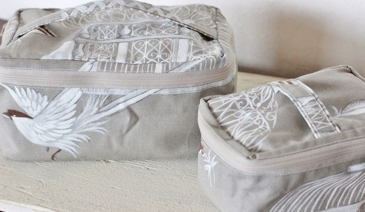 French Fabric shabby style pouch