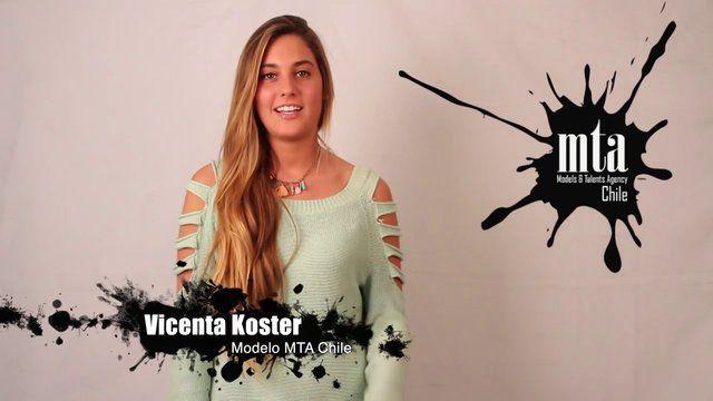 Un saludo de Vicenta Koster modelo de MTA Chile. www.mtachile.com