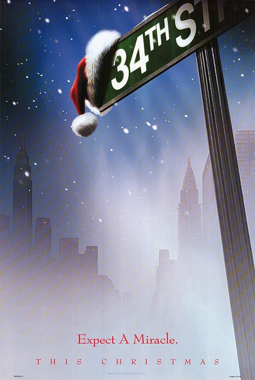 Miracle On 34th Street. My FAVORITE Christmas movie. I always watch it on American Thanksgiving!