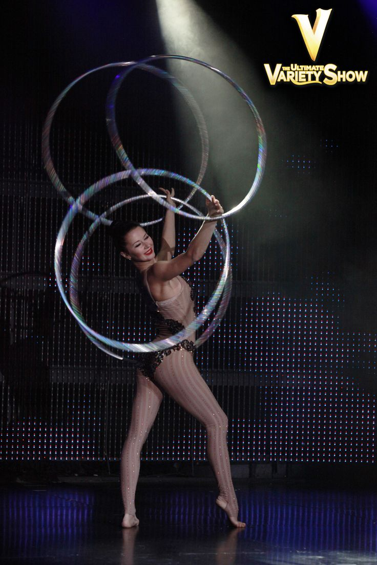 The more hula-hoops the better!  #VtheShow #VegasVarietyShows #PlanetHollywood