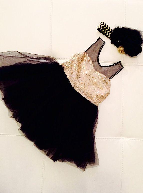 Robe de paillettes or Blackjack robe fille par DelicateAndSpecial