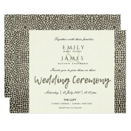 GLAMOROUS COPPER SILVER DOTS MOSAIC WEDDING CARD - calligraphy gifts custom personalize diy create your own