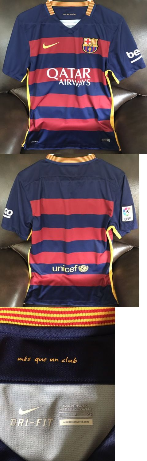 Men 123490: New Authentic Fc Barcelona Match Jersey Small -> BUY IT NOW ONLY: $65 on eBay!