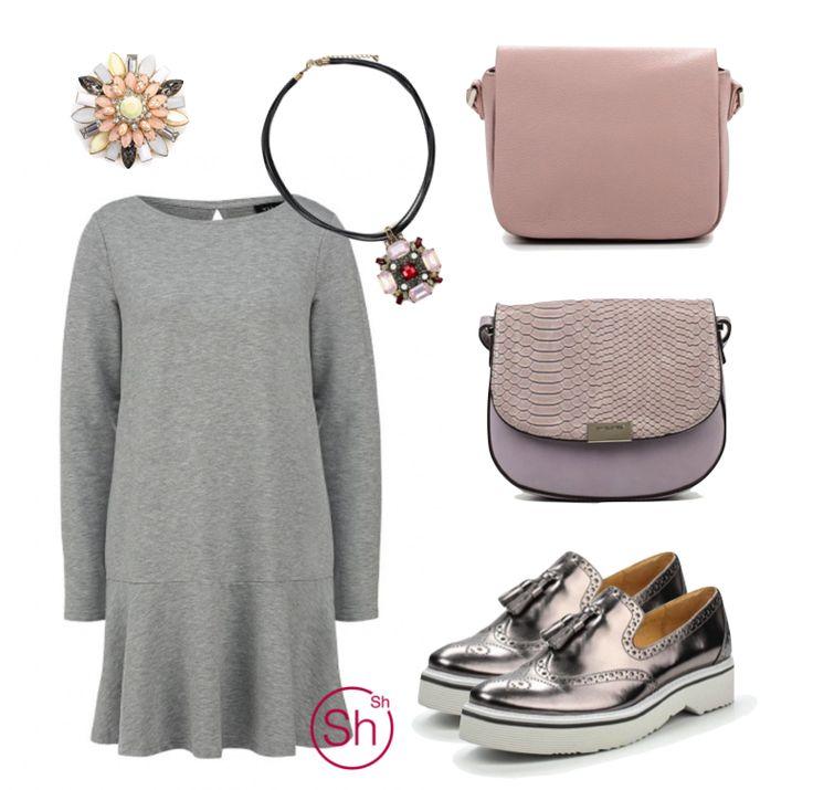 #pastel #womensoutfit #greydress