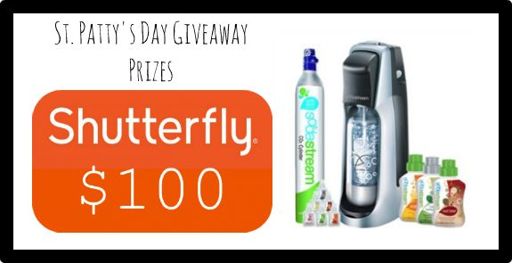 Take It From Me: St. Patty's Day Giveaway sponsored by Shutterfly & Sodastream