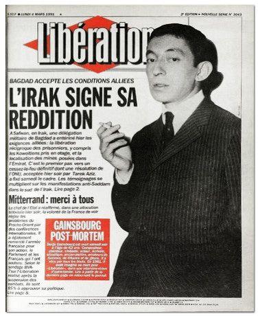Gainsbourg Une de Libé