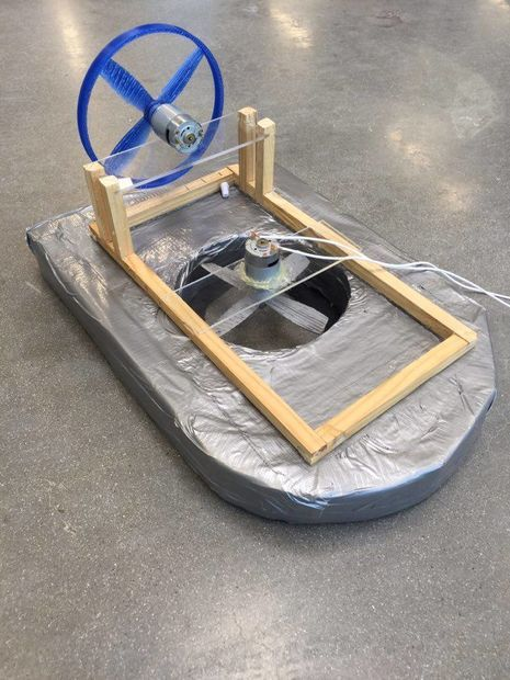 For our school project, we needed to integrate arduino into an automated system/machine etc.We chose to make an arduino controlled hovercraft.